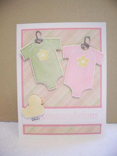 Something for Baby twins by D. Daisy - Cards and Paper Crafts at Splitcoaststampers