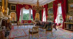 Broughton Hall - Red Drawing Room