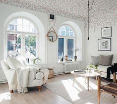 Tapeta na sufit w kwiaty Peony grey, 135 x 270 cm, marka sandberg - zdjęcie od Ardeko