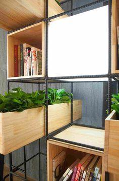 Кафе с живыми растениями в Пекине