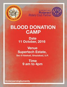 Brochure for blood donation camp 2016 designed by our team http blood donation camp illustratorcs6 rotary rotaract stopboris Choice Image