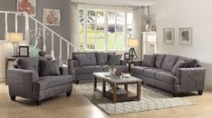 2 pc Red barrell studio munos samuel charcoal linen like fabric sofa and love seat set. This set includes the sofa and love seat. Sofa measures x D x H. Love seat measures x D x H. Chair also available separately at additional co Grey Sofa Living Room, Living Room Sets, Furniture, Room Set, 3 Piece Living Room Set, Living Room Sofa, Living Room Seating, Living Room Grey, Sofa Set