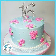 Alice in Wonderland Rosette Birthday Cake NJ