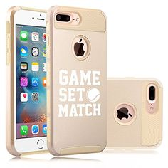 Apple iPhone (7 Plus) Shockproof Impact Hard Soft Case Cover Game Set Match Tennis (Gold) * Read more  at the image link.