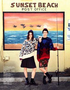 #TatianaCotliar & #AlanaBunte by #DavidMushegain for #VogueRussia July 2013