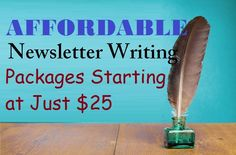 Affordable #Newsletter Writing Packages Starting at Just $25 – #writing #socialmedianews