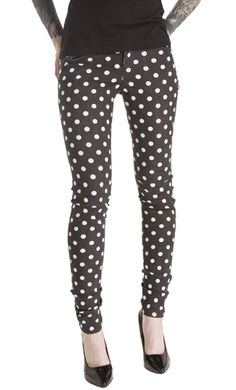 Don't trip out while looking at these new Tripp Skinny Polka Dot jeans! har har. Can you ever really go wrong with polka dots? I mean really.   $66.00