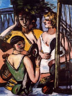 The Three Sisters, s.d. // Max Beckmann, (German, 1884-1950)
