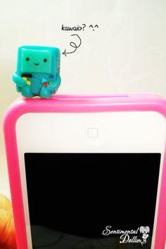 Adventure Time BMO Cellphone Dust Plug Charm, Phone Charm, Kawaii Dust Plug