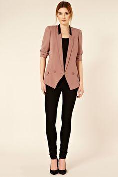 Colour Block Collat Jacket