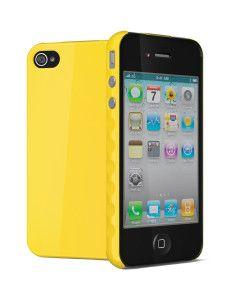 Aerogrip Amarillo, Funda para iPhone 4 & 4S Aerogrip Amarilla,  Con Mica Protectora y Paño de Microfibra  Incluidos.