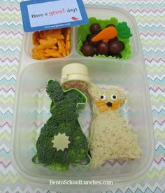 Bento School Lunches: Here Comes Peter Cottontail Easter Bento