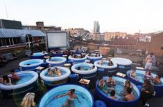 Hot Tub Cinema! Hot Tub Cinema! For the destination dater making #Gnoments as you go this is a MUST. This pop-up is pretty much hot-tub party perfection. Operating in London, NYC & Ibiza, Hot Tub Cinema's simple, but magical formula for a cine-magical night out is: great films, amazing spaces and lots of hot tubs. You are encouraged to dress up, sing, dance, drink, and play