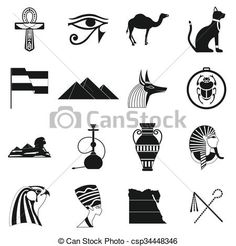 Vector - Egypt icons black - stock illustration, royalty free illustrations, stock clip art icon, stock clipart icons, logo, line art, EPS picture, pictures, graphic, graphics, drawing, drawings, vector image, artwork, EPS vector art