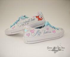 Customised Wedidng Vans with Foxes.JPG #paintedToms #custom #Toms #customised #personalisedvToms #weddingToms #wedding #weddingshoes #shoes #fox #ribbon #handmade #hearts #converse #weddingconverse