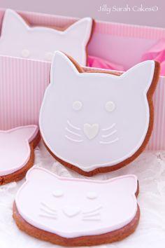 Pink cat Cookies