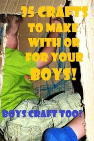 In my eyes, it is a myth that boys dont craft! Here are ideas to get the little guys creative (of course, girls can join in too)