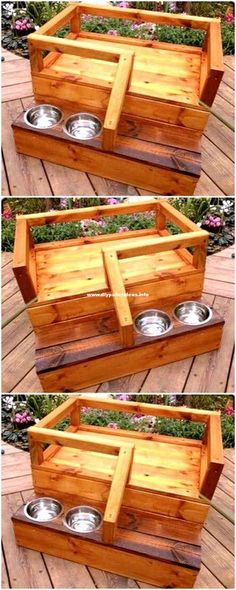 Inexpensive Wood Pallet Dog Bed With Bowl bed Mind Blowing DIY Pallet Wood Ideas And Projects - diypalletideas Wood Dog Bed, Pallet Dog Beds, Diy Dog Bed, Dog Furniture, Pallet Furniture, Furniture Plans, Furniture Showroom, Kitchen Furniture, Furniture Online