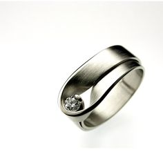 Ring | Vincent Van Hees. White gold with diamond