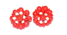 Womens Vintage Red Lucite and Rhinestone by AntiqueAlchemyShop, $13.00