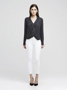 Shop women's classic and timeless blouses, tops, tanks & camis designed in silk and luxury fabrics. Silk Top, Blouses For Women, Cami, White Jeans, Bodysuit, Fabric, Pants, Clothes, Black