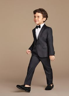e81814593 Boys Outfits Four Pieces Luxurious Black Ring Bearer Suits Cool Boys ...