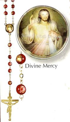 Divine Mercy Red Bead Lourdes Rosary