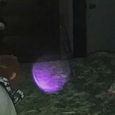 Purple #orb in our home #ghost #spirits #haunting #haunted