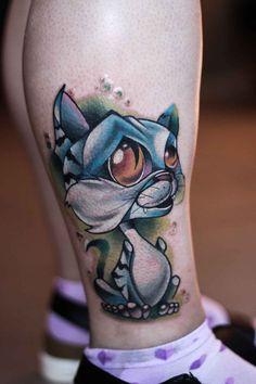 Tattoo artist Ilya Chernik new school tattoo, realistic - Tattoo MAG Badass Tattoos, Dog Tattoos, Animal Tattoos, Kitty Tattoos, Tattoo Sketches, Tattoo Drawings, Lucky Cat Tattoo, Desenho New School, Geometric Henna