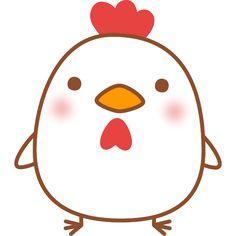 ゆるかわいい鶏の無料イラスト素材 Kawaii Doodles, Cute Kawaii Drawings, Cute Doodles, Doodle Drawings, Animal Drawings, Doodle Art, Tier Doodles, Bad Candy, Chicken Drawing