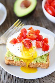 Avocado, Hummus, and Egg Toast #recipe #healthy