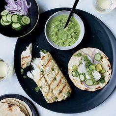 Fish Tacos with Tomatillo-Jalapeño Salsa | Food & Wine