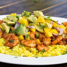 Paprika Shrimp with Mango and Avocado Salsa | recipe from Fort Mill SC Living