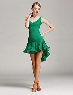 47e80ac8de85 [$44.99] Latin Dance Dresses Women's Training / Performance Lace Draping /  Lace Sleeveless Natural Dress