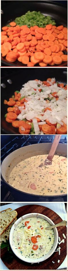 Mom's Creamy Chicken Soup - Absolutely Amazing Recipe.. My Favorite Soup Recipe Growing Up!! #soup #recipe #easy #lunch #recipes