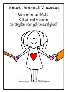 8 maart, Internationale Vrouwendag. Verbonden wereldwijd. Solidair met vrouwen die strijden voor gelijkwaardigheid! - Jabbertje