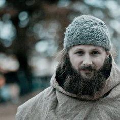 Viking, Norse, Anglo Saxon, Nalbinding hat, Hand spun wool, oslo stitch, brown alpaca,