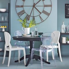 Bold black and blue dining room | Dining room decorating ideas | Ideal Home | Housetohome.co.uk