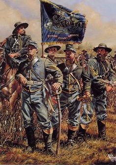 """Pride of the Keystone State : The Seventh Pennsylvania Cavalry"" American Civil War Military Art, Military History, Military Uniforms, American War, American History, Civil War Art, America Civil War, Civil War Photos, Arte Horror"