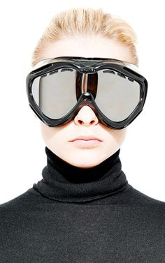 Vintage Chanel Black Ski Goggles From What Goes Around Comes Around by Vintage Chanel for Preorder on Moda Operandi