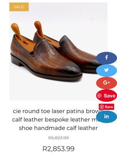 Men's genuine leather hand crafted loafers Calf Leather, Gentleman, Calves, Loafers, Men, Shopping, Shoes, Travel Shoes, Baby Cows