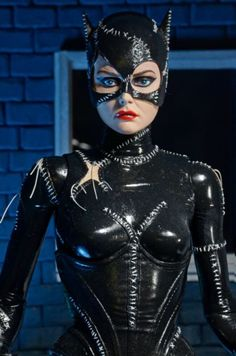 NECA Previews 18  Batman Returns Catwoman Figure & Original Catwoman catsuit worn by Michelle Pfeiffer in Batman ...