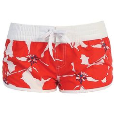 011f635cf45fe Hello Kitty Anyone. See more. Women's Beach Shorts Leaf Pattern Orange  Puppy ($16) ❤ liked on Polyvore Workout Shorts