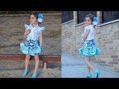 Vestido flamenco de mujer 1ª parte, Como hacer un vestido flamenco. - YouTube