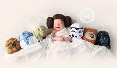 Star Wars newborn photo | Princess Leia baby | Newborn Photography ...