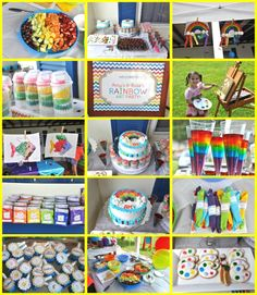 art birthday party ideas for girls | Food, Family, Fun.: Rainbow Art Party