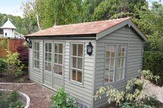 Pictures & Images Of Garden Buildings Garden Front Of House, Summer House Garden, Brick Garden, Summer Houses, Painted Garden Sheds, Painted Shed, Summer House Paint, Brick Shed, Garden Log Cabins