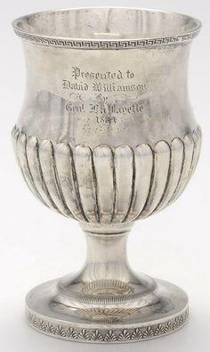 Kirk Stieff Lafayette Sterling Silver Goblet ca.1824