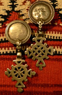 Iconic Vintage Ethiopian Silver Cross Earrings SOLD