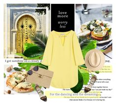 """""""For dancing and dreaming 14/06/2015"""" by azi-izbassarova ❤ liked on Polyvore featuring Emilio Pucci, Chanel, Brian Atwood, Illesteva, yellow, simpleoutfit, CasualChic and summer2015"""